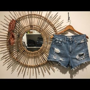 Madewell Perfect Jean Shorts in Langdon Wash